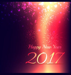 shiny new year 2017 holidays background design vector image vector image