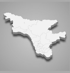 3d map region russia vector