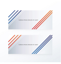 abstract line banner blue red vector image