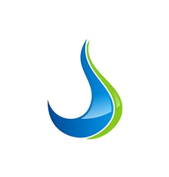 abstract water drop ecology logo vector image