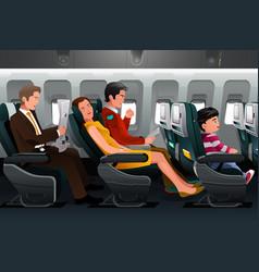 Airline passengers vector