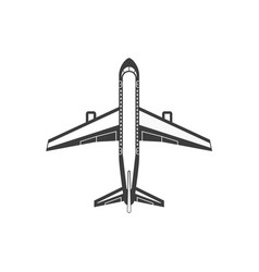 airplane simple icon vector image