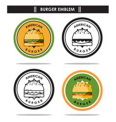 American burger emblem vector