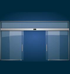 Automatic glass doors vector