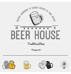 Beer badges logos and labels for any use vector