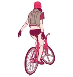 Biker Girl vector