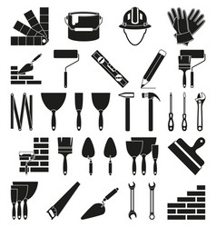 black and white 30 construction silhouette vector image