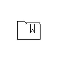 Bookmarked folder icon vector