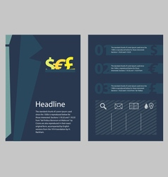 Brochure business concept style vector image