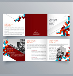 brochure design 574 vector image