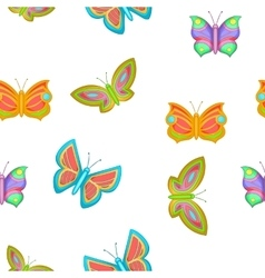 Butterfly pattern cartoon style vector