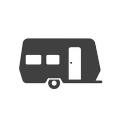 camping travel or camper trailer caravan bold vector image