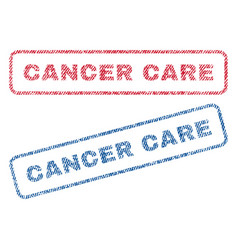 cancer care textile stamps vector image vector image