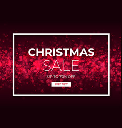 christmas sale design with red glitter vector image