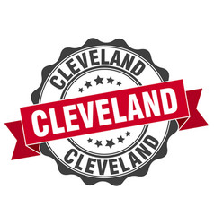 Cleveland round ribbon seal vector