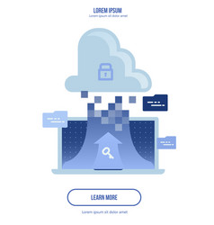 cloud computing concept - connect devices to cloud vector image