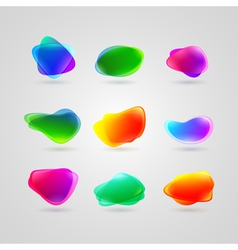 collection of different blots vector image vector image