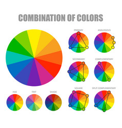 Color combination scheme poster vector
