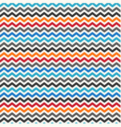 color zigzag seamless pattern vector image