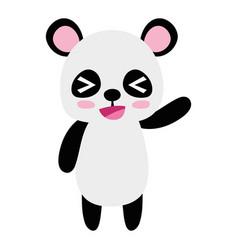 Colorful cute and cheerful panda wild animal vector