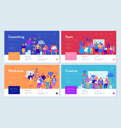 Coworking banners set vector
