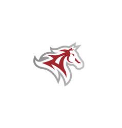 creative horse logo vector image