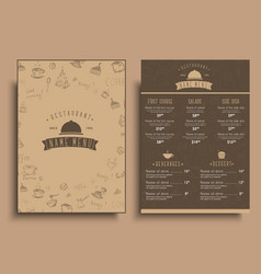 Design a menu for a cafe or restaurant in a retro vector
