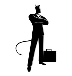 devil as a businessman vector image