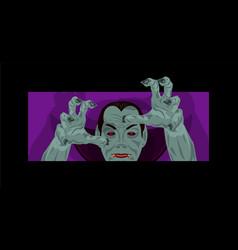 dracula halloween count dracula costume vector image