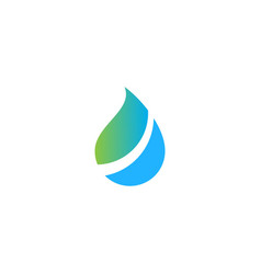 Droplet bio ecology pure water logo vector