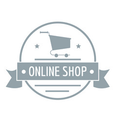 E commerce logo simple gray style vector