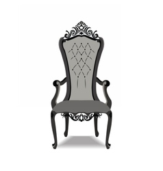 Elegant Baroque ornamented luxury armchair vector image