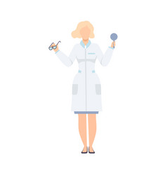 female oculist doctor character optometrist vector image