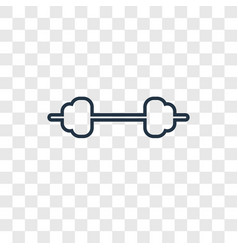 fitness concept linear icon isolated on vector image