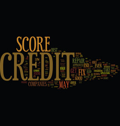 Fix credit score text background word cloud vector