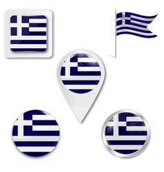 Flag greece patriotism country vector
