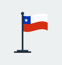 Flag of chileflag stand vector