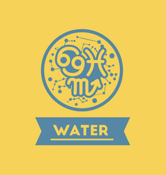 Flat icon element zodiacal water vector