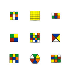 game cubes of different shapes vector image