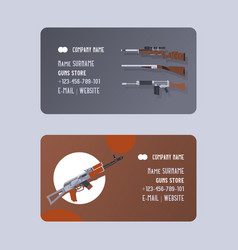 guns and vinchesters store or shop set business vector image