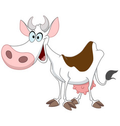 happy cow vector image