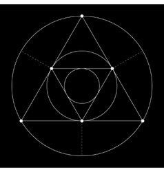 Harmonic in sacred geometry Plato The ratio of vector image