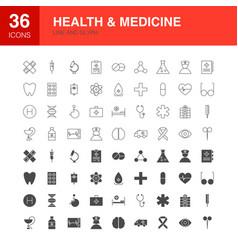 health medicine line web glyph icons vector image