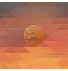 Hipster background made of triangles vector image