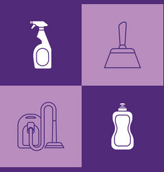 house cleaning design vector image