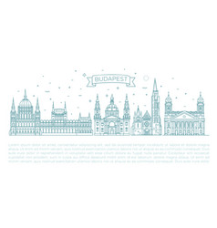 Hungarian travel landmark historical buildings vector