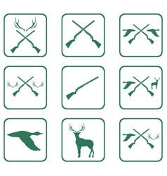 hunting shot gun icon vector image vector image