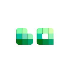 initial letters bq b q pixel brick logo design vector image