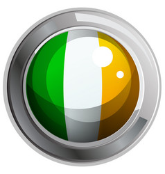 Ireland flag on round badge vector