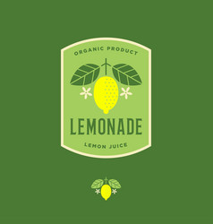 lemon logo lemonade drink label vector image